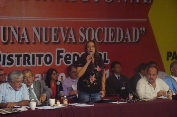La Diputada y Presidenta del P-MAS del Paraguay  Rocio Casco del Paraguay